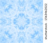 halftone blue ornament  winter... | Shutterstock .eps vector #1563462022