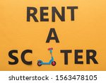 top view of paper cut rent a... | Shutterstock . vector #1563478105