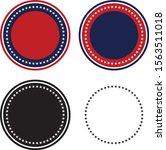 patriotic 50 stars circle set... | Shutterstock .eps vector #1563511018