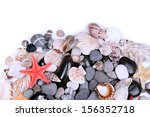 close up of sea stones and... | Shutterstock . vector #156352718