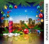 celebration illustration with... | Shutterstock . vector #1563546088
