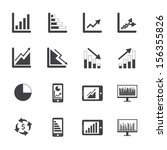 black and white business graph... | Shutterstock .eps vector #156355826