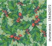 christmas mistletoe  vector... | Shutterstock .eps vector #156362372
