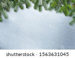 white christmas background with ... | Shutterstock . vector #1563631045