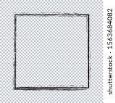 frame banner   brush painted on ...   Shutterstock .eps vector #1563684082