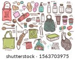set of durable items and... | Shutterstock .eps vector #1563703975