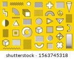 memphis design set elements.... | Shutterstock .eps vector #1563745318