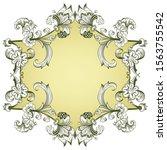 floral hand drawn vector border.... | Shutterstock .eps vector #1563755542