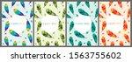 feather bird seamless pattern... | Shutterstock .eps vector #1563755602
