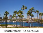 long beach california skyline... | Shutterstock . vector #156376868