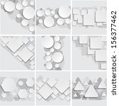 set of abstract geometrical... | Shutterstock .eps vector #156377462
