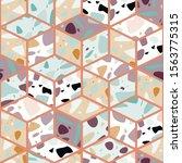 terrazzo seamless pattern... | Shutterstock .eps vector #1563775315