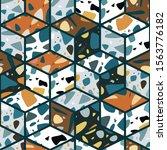 terrazzo seamless pattern... | Shutterstock .eps vector #1563776182