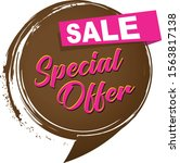 a special offer sale icon | Shutterstock .eps vector #1563817138