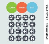 login icon set | Shutterstock .eps vector #156381956