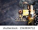 happy new year 2020 background... | Shutterstock . vector #1563834712