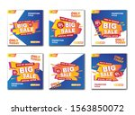 set of modern flash sale banner....   Shutterstock .eps vector #1563850072