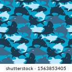 camouflage army seamless... | Shutterstock .eps vector #1563853405
