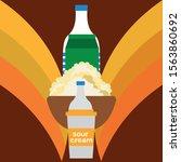 milk  sour  kefir  cottage ...   Shutterstock .eps vector #1563860692