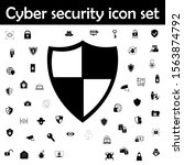 shield protection icon. cyber... | Shutterstock .eps vector #1563874792