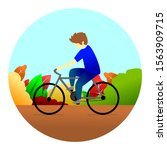 ilustration vector of cycling... | Shutterstock .eps vector #1563909715