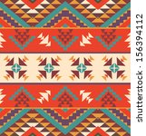 seamless colorful aztec pattern | Shutterstock .eps vector #156394112