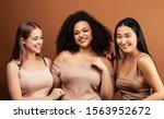 young pretty asian  caucasian ...   Shutterstock . vector #1563952672