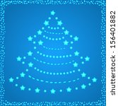 christmas tree with stars | Shutterstock .eps vector #156401882
