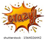 crazy comics poster. thought...   Shutterstock .eps vector #1564026442