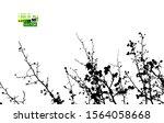 tree branch silhouette. vector...   Shutterstock .eps vector #1564058668