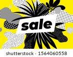 sale banner bright vector... | Shutterstock .eps vector #1564060558