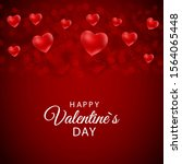 happy valentines day card with...   Shutterstock . vector #1564065448