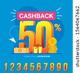 cashback banner design concept... | Shutterstock .eps vector #1564067662