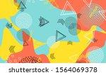 90s wallpaper. honey textile... | Shutterstock .eps vector #1564069378