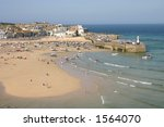 St. Ives harbour, Cornwall England UK - stock photo