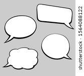 speech bubbles. hand drawn... | Shutterstock .eps vector #1564088122