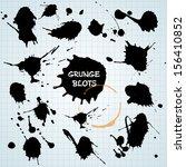 blots set background. | Shutterstock .eps vector #156410852