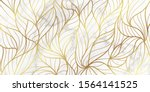luxury gold marble design withe ... | Shutterstock .eps vector #1564141525