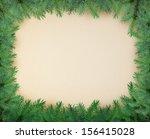 the fir branches arranged as a... | Shutterstock . vector #156415028