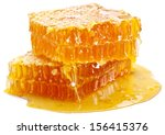 honeycomb on a white background. | Shutterstock . vector #156415376