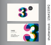 business card template with... | Shutterstock .eps vector #156415592