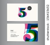 business card template with... | Shutterstock .eps vector #156415652