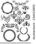 vintage pattern texture | Shutterstock . vector #156415892