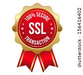 gold red secure transaction... | Shutterstock .eps vector #156416402