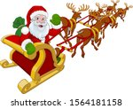 Santa Claus In His Christmas...