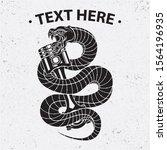 snake and piston shirt design ... | Shutterstock .eps vector #1564196935