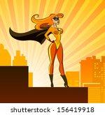 super hero   female.... | Shutterstock . vector #156419918