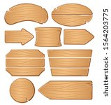 wooden boards for banners or... | Shutterstock .eps vector #1564203775