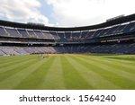 The Grass Of A Baseball Stadium