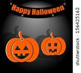 halloween background.two... | Shutterstock . vector #156425162
